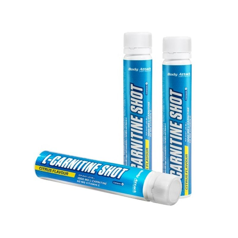 Body Attack L-Carnitine Shots 20x25ml - Citrus
