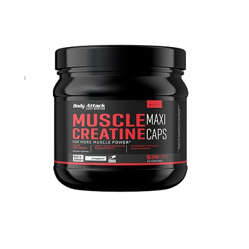 Body Attack Muscle Creatine (Creapure) 240 Caps